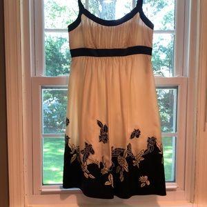 BCBG Silk Dress (Black and White)